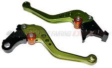 Honda CBR 600 F4i 2004 2005 2006 2007 Adjustable Shorty Brake Clutch Lever Green