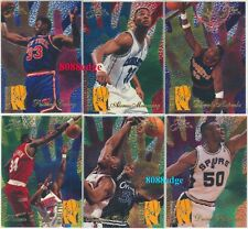 1994-95 FLAIR REJECTOR 6 CARD INSERT SET:SHAQ/EWING/ZO/ROBINSON/OLAJUWON/MUTOMBO