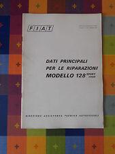 598D - FIAT MODELLO 128 SPORT/COUPE' DIREZIONE ASSISTENZA TECNICA AUTOVEICOLI