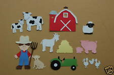 14 Piece Cricut Farm  Cardstock Die Cuts Set