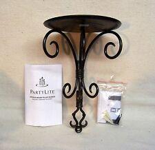 Partylite Antique Brass Pillar Sconce #P8358 Original Box