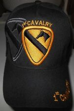 United States 1st CAVALRY Black Adjustable Hat - Free Shipping!!