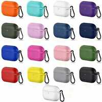 For Apple AirPods Pro / 1 / 2 / 3 Charging Case Soft Protective Cover + Keychain