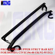 Front Rear Upper Strut Tower Brace Bar for Honda Civic 96-00 Ek 92-95 EG BK Kit