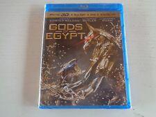 Gods of Egypt (Blu-ray 3D + Blu-ray + DVD + Digital HD 3-Disc Set, 3D). New.