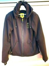 Draggin Motorcycle Hoodie Casual Hooded Protective Armour Jacket in Black XL