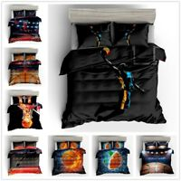 3D Sports Basketball Bedding Set Dunk Duvet Cover Pillowcase Comforter Cover