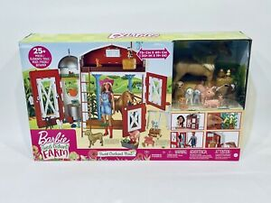 Barbie Sweet Orchard Farm Playset with Barn, 11 Animals IN HAND SHIP READY
