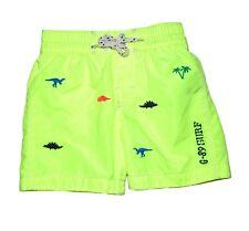 NWT Gap Baby Boys Dinosaur Embroidered Neon Swim Trunk Shorts