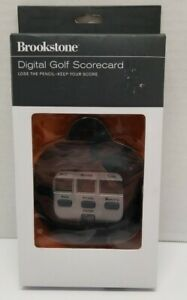Brookstone Digital Golf Scorecard with Case - Stroke Counter & Best Round Saver