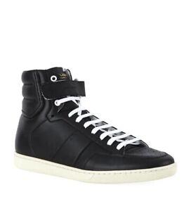 Saint Laurent Sneakers Men High Top Black Shoes SL12H DM 345414 us 6.5 eu 40