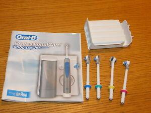 professional care BRAUN ORAL-B OXYJET 8500 lot embouts Recharge JET + boite box