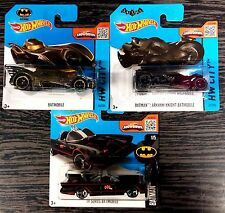 Lotto 1 pz.3 HOT WHEELS BATMOBILE BATMAN SCALA 1:64 DIE CAST MATTEL nuove