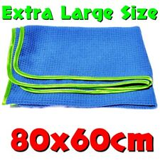 Waffle Weave Microfibre Car Cleaning & Detailing Drying Towel Cloth XL 80x60cm