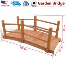 """Garden Bridge Solidwood Yard Outdoor Structure Creek Flower Bed 4'7""""x1'12& #034;x1'10"""""""