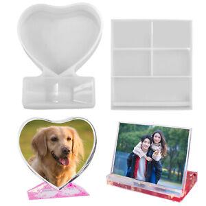 Crystal Epoxy Resin Craft Mirror Decoration Love Rectangular Photo Frame Mold