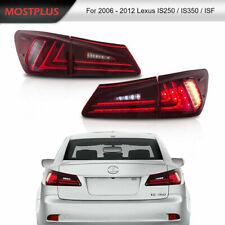 LED Tail Lights For 2006-2012 Lexus IS350 IS250 IS200d Turn+Fog+Brake Rear Lamp