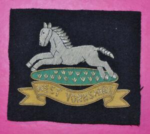 West Yorkshire Regiment regimental bullion wire blazer badge