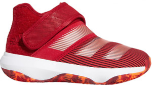 adidas Harden Basketball Shoes Preschool Kids 2 Authentic B/E 3 Red with Orange