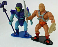 Masters of the universe vintage motu figure stands 2 display  he-man skeletor