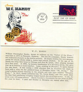 1372 W. C. Handy, Cover Craft Cachets, CCC, FDC