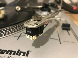 Used Shure M44-7 needle with Stanton Headshell Plus 4 gram for DJ Turntable