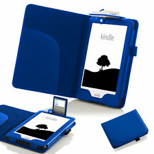 Forefront Cases Leather Case Cover With LED Light Amazon Kindle 2016 8th Gen Blue