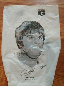 Vintage 1976 Safelon Superstars Baseball Lunch Bag Pete ROSE Catfish Hunter MLB