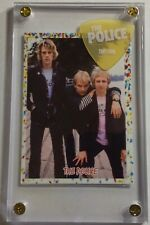Rare Police group Rock card/ Sting white on clear 07-08 tour guitar pick display