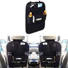 Auto Car Seat Back Multi-Pocket Storage Bag Organizer Holder Accessory Black