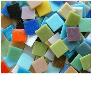3/8 inch Mixed Colors Vitreous Glass Mosaic Tiles - 100 Tiles