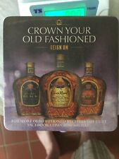 Crown Royal Promo Drink Coasters Barware Lot of 75 Sealed Maple & Black Beverage