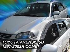 DTO29607 TOYOTA AVENSIS T22 ESTATE 1997-2003 WIND DEFLECTORS 4pc HEKO TINTED