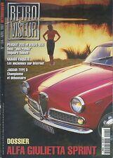 RETROVISEUR n°104 04/1997 ALFA GIUELETTA SUPER PEUGEOT 203 VOLVO 444 JAG TYPE D