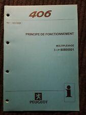 (309MA) Manuel d'atelier PEUGEOT 406 - Principe de Fonctionnement Multiplexage.