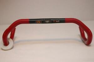 Easton EC90 Carbon Handlebar 42cm 26.0mm Road Bike Drop Bar Red Black Ergo