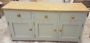 New Painted & Waxed shaker style sideboard, dresser base , 3 door 3 drawer unit