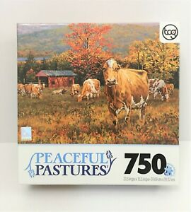 Peaceful Pastures AUTUMN'S GOLD 750pc Puzzle ~Artist Bonnie Mohr~ Sure-Lox NEW