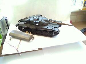 Vintage Tamiya Moki Plastic Large Tank Remote Control Not Tested Needs Repair...