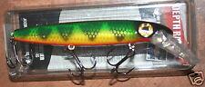 "6"" Baby Depth Raider Joe Bucher Pike Musky Crankbait Natural Perch 528-30175"