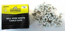 Pack of 100 Defiance White Bell Wire Cable Clips Cable Holding Clips 5mm