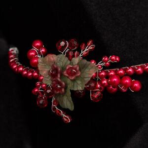 Hand made diadem JulietCap D093