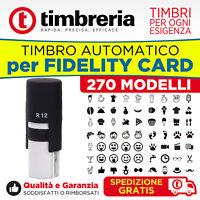 TIMBRO PER TESSERE E FIDELITY AUTOINCHIOSTRANTE AUTOMATICO ROTONDO Ø 12mm PRONTO