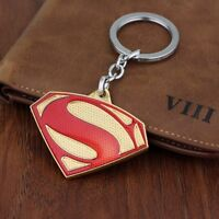 DC Comics SUPERMAN Red Gold Logo Movie Key chain S Shield textured cosplay USA