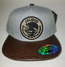 JALISCO    MEXICO   HAT  HEATHER GREY  BROWN  SNAP BACK ADJUSTABLE  NEW