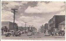 CANADA QUEBEC ROUYN MAIN ST. RPPC STREET OLD VIEW POSTCARD 1950s-1960s