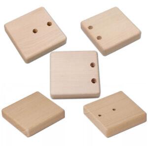 Hofmeister Türgriffplatte unlackiert quadratisch 12,6cm Holzgriff Sauna