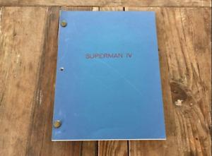 Superman IV original movie script - Mark Rosenthal, Lawrence Konner 1986