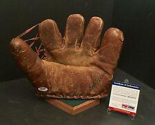 Bob Feller Signed Vintage Bob Feller Baseball Glove Mitt *Cleveland Indians PSA