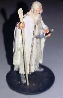 Signore degli Anelli Lord of the Rings Miniatura Metallo GANDALF IL BIANCO